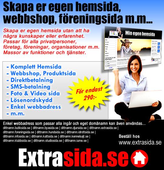 Extrasida.se - Skapa er egen hemsida!